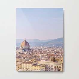 Florence Skyline - Italy Travel Photography Metal Print
