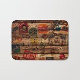 Wooden wall of Brands Bath Mat