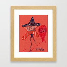 Patriotic Framed Art Print
