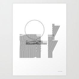 Thin lines Art Print