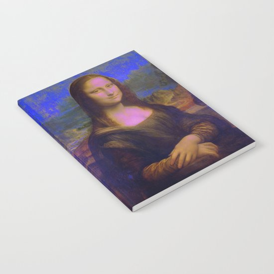 Mona Lisa's Haze (blue) Notebook