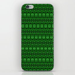 Dividers 07 in Green over Black iPhone Skin