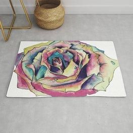 Watercolor Rose Rug