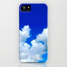 Clouds in a Clear Blue Sky iPhone Case