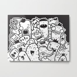 Lets Party Metal Print