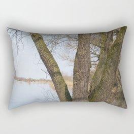 looking into the distance Rectangular Pillow