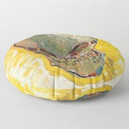 Vincent Van Gogh Skull Floor Pillow