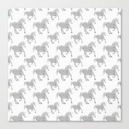White Horse Pattern Canvas Print