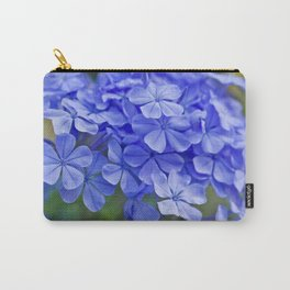 Summer garden blues - macro floral phtography Carry-All Pouch