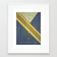 video game Framed Art Prints featuring Video Game Poster: Cowboy by Justin D. Russo