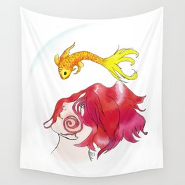 Eloise & Fish Wall Tapestry