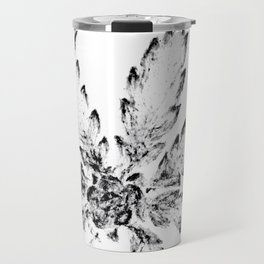 Black & White (Cannabis Resin Leaf) Travel Mug