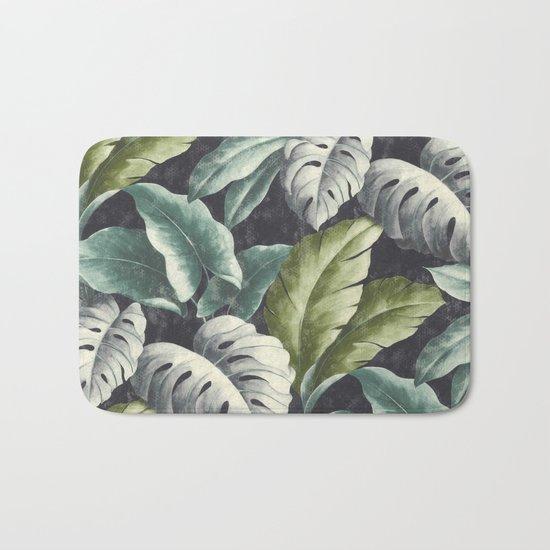 botanical pattern Bath Mat
