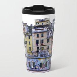 Colourful courtyard of Riomaggiore Travel Mug