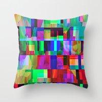 glitch Throw Pillows featuring GLITCH by C O R N E L L