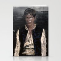 han solo Stationery Cards featuring Han Solo by Rafal Rola