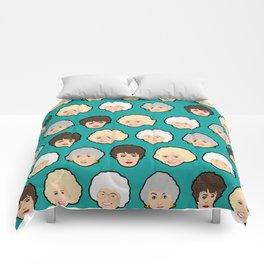 Golden Girls Green Pop Art Comforters