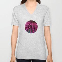 Pink Feathers Unisex V-Neck