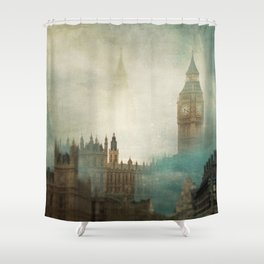 London Surreal Shower Curtain
