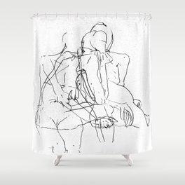 Pale Woman Shower Curtain