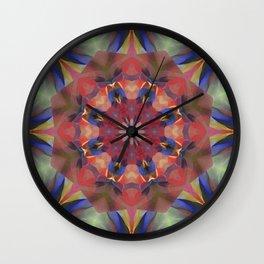Mulicolored Geo Rainbow Kaleidoscope Wall Clock