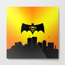 bat and super Metal Print