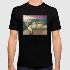 Sloth Mens Fitted Tee Black LARGE