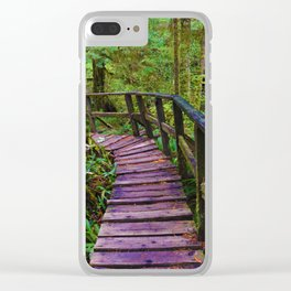 Come take a walk on the wildside Clear iPhone Case