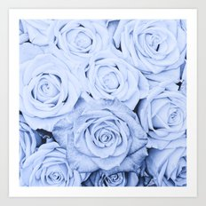 Some people grumble - Blue Rose, Floral Roses Flower Flowers on #Society6 Art Print
