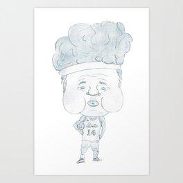 "Basketball player Girdi stronger ""14"" (PNG) Art Print"