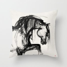 Horse (Saklavi Portrait) Throw Pillow