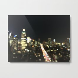 """""""Bright Lights In New York City"""" by Simple Stylings Metal Print"""