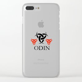 Odin- The graphic is a symbol of the horns of Odin, a satanist symbol Clear iPhone Case