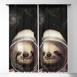 Space Sloth Blackout Curtain
