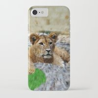 the lion king iPhone & iPod Cases featuring King Lion by helsch photography