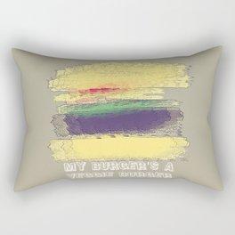 Veggie Burger  Rectangular Pillow