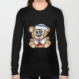 SAILOR TEDDY BEAR captain crew sail boat nautical Long Sleeve T-shirt