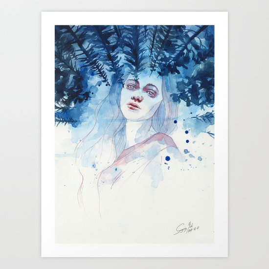 Underneath the moonlight Art Print
