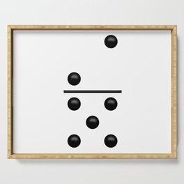 White Domino / Domino Blanco Serving Tray