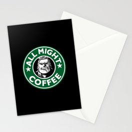 All Might Coffee Stationery Cards