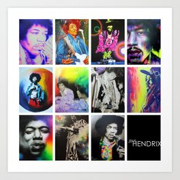 'Jimi Collage' Art Print