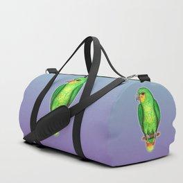 Orange winged amazon parrot Duffle Bag