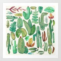 nature pattern collab. Art Print