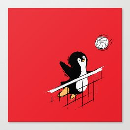 Flying Penguins Canvas Print