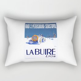1911 La Buire French Automobile Advertising Poster Rectangular Pillow