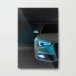 Sports Car Headlight Metal Print