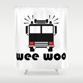 Wee Woo Fire Truck Shower Curtain