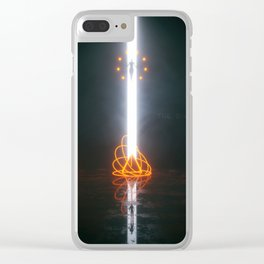 the +ixel junk Clear iPhone Case