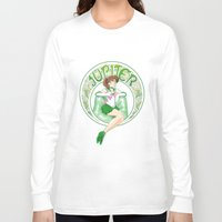 sailor jupiter Long Sleeve T-shirts featuring Sailor Jupiter by Neo Crystal Tokyo