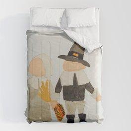 Thanksgiving Pilgrim Toddler Girl and Boy Couple Comforters